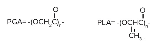 Bioabsorbable poly(glycolide) PGA and poly(lactide) PLA