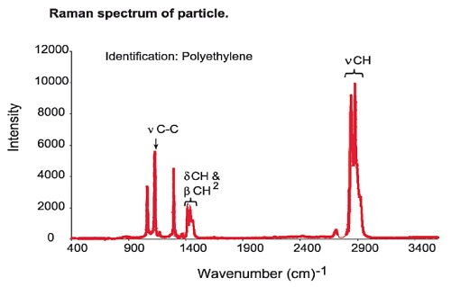 Raman spectrum of particle